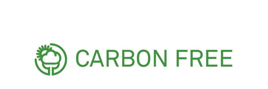 A Pousada dos Sonhos recebeu o selo Carbon Free em 2013. Imagem com o logo da iniciativa Carbon Free.