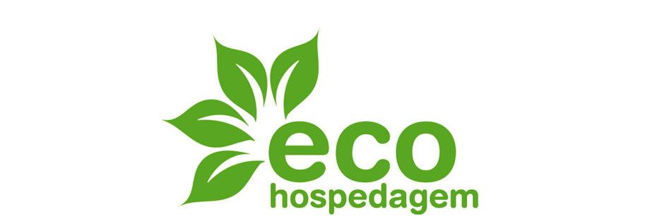 Logo da iniciativa eco hospedagem para blog da Pousada dos Sonhos em Jurerê, Florianópolis, que recebeu este selo