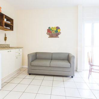 Ótima iluminação, ambientes arejados e conforto no Apartamento VIsta Lateral da Pousada dos Sonhos em Jurerê, Florianópolis